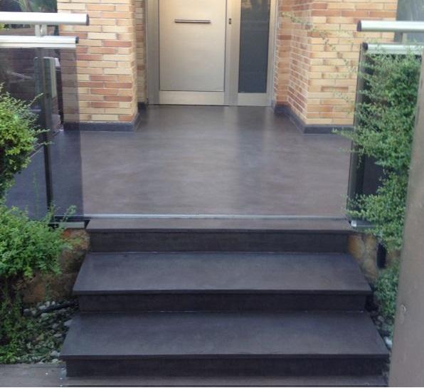 Reforma de terraza con microcemento para evitar humedades blog de microcementosonline - Microcemento para exterior ...