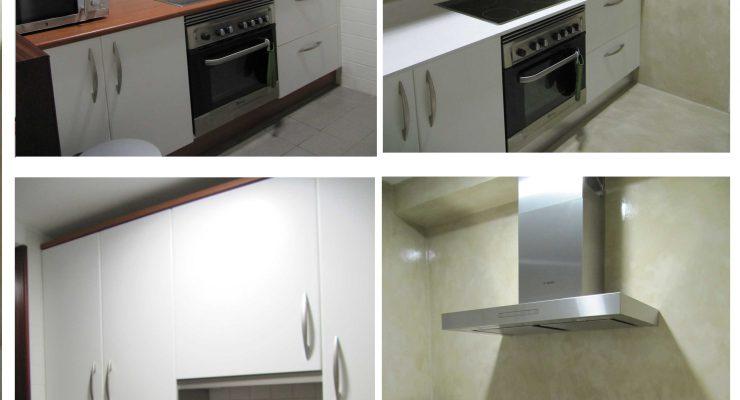 Reformar cocina con Microcemento sin quitar los azulejos.