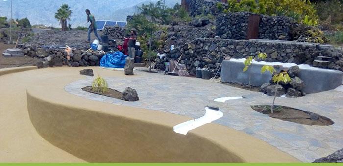 transformar jardín piscina de arena