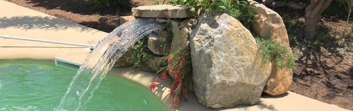 objeto decorativo piscina lujo
