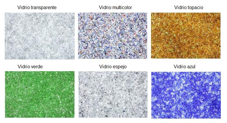 Carta de colores vidrio reciclado