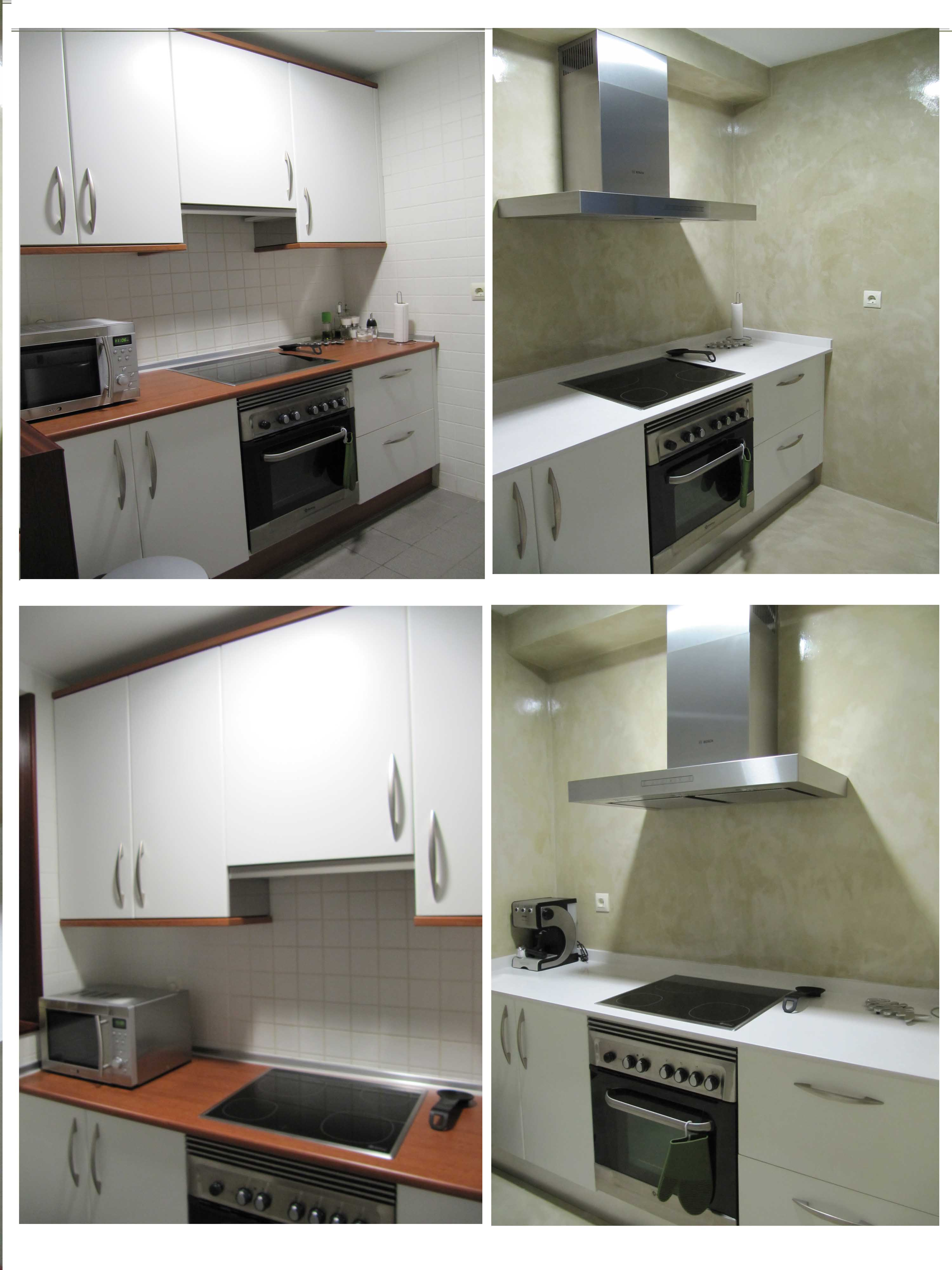 Reformar cocina con microcemento sin quitar los azulejos blog de microcementosonline - Microcemento en cocinas ...