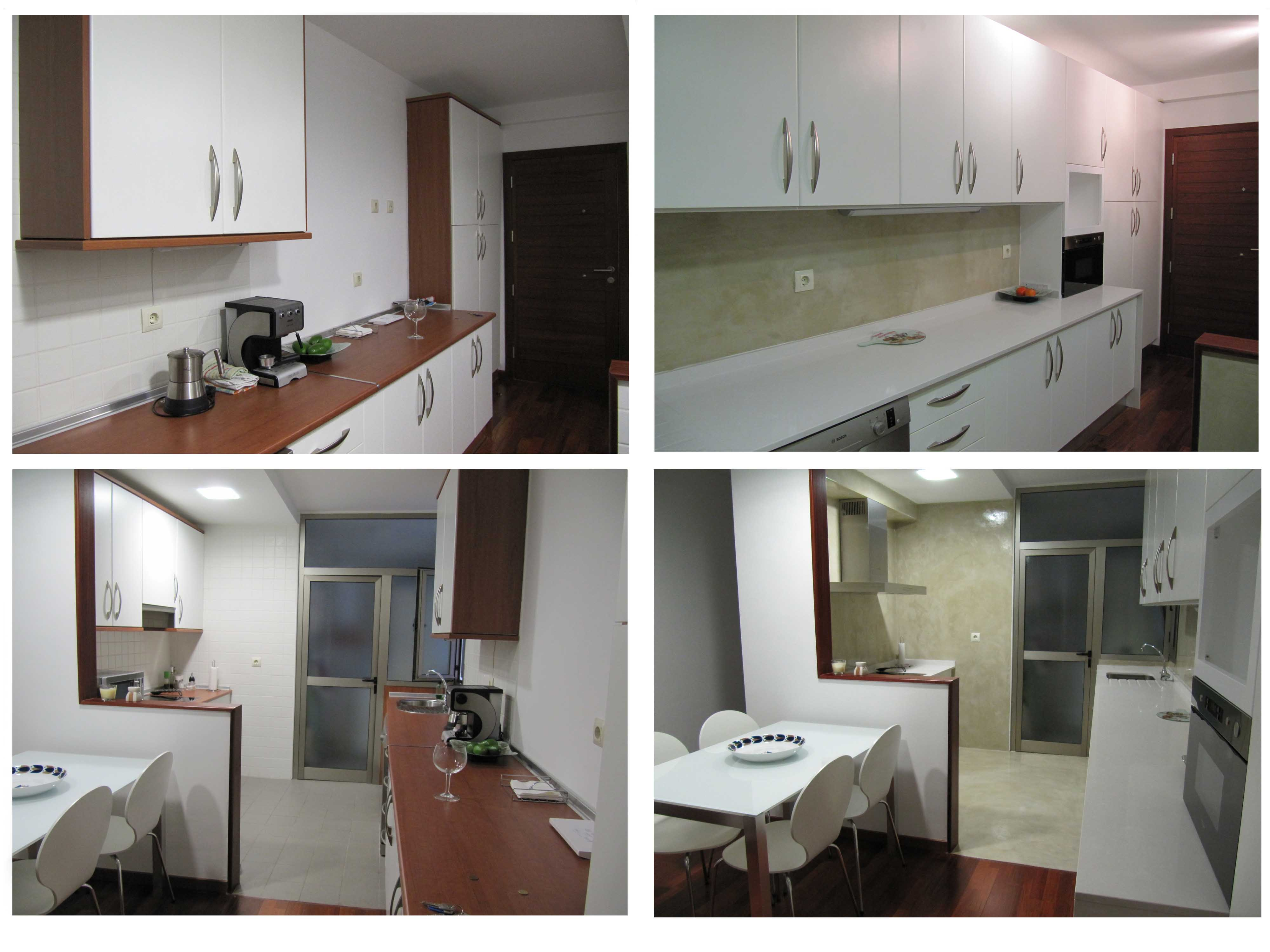 Reformar cocina con microcemento sin quitar los azulejos - Tapar azulejos cocina ...