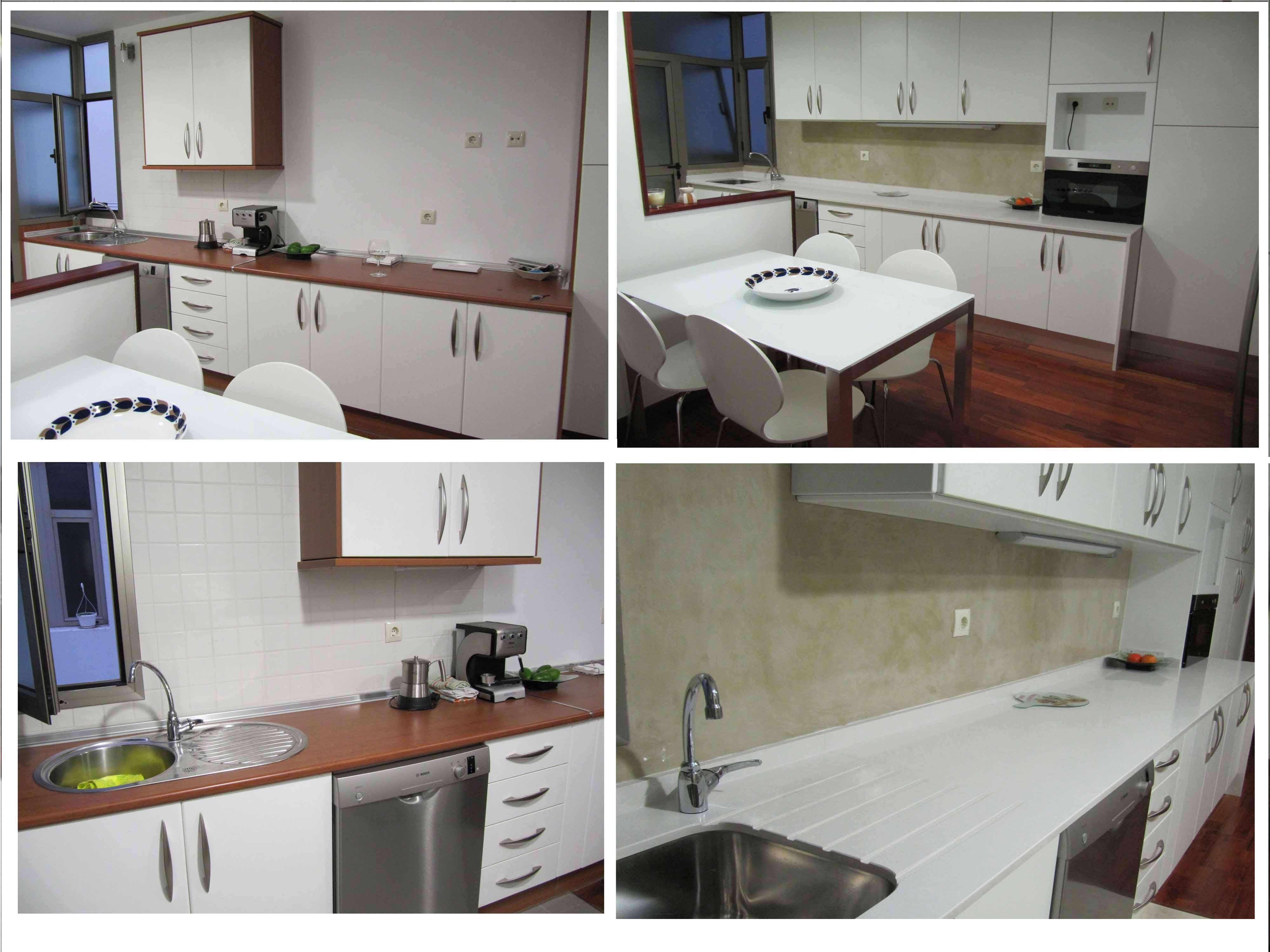 Reformar cocina con microcemento sin quitar los azulejos for Quitar azulejos sin obra