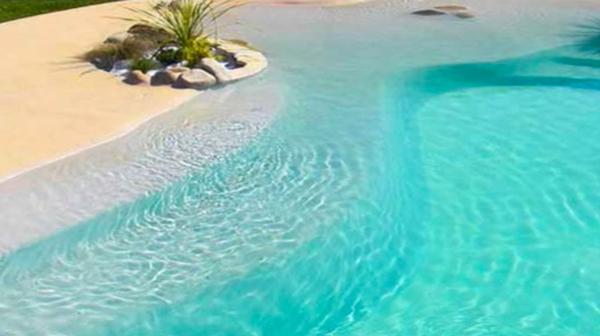 Como hacer una piscina de arena con resina microcemento Piscinas de arena baratas