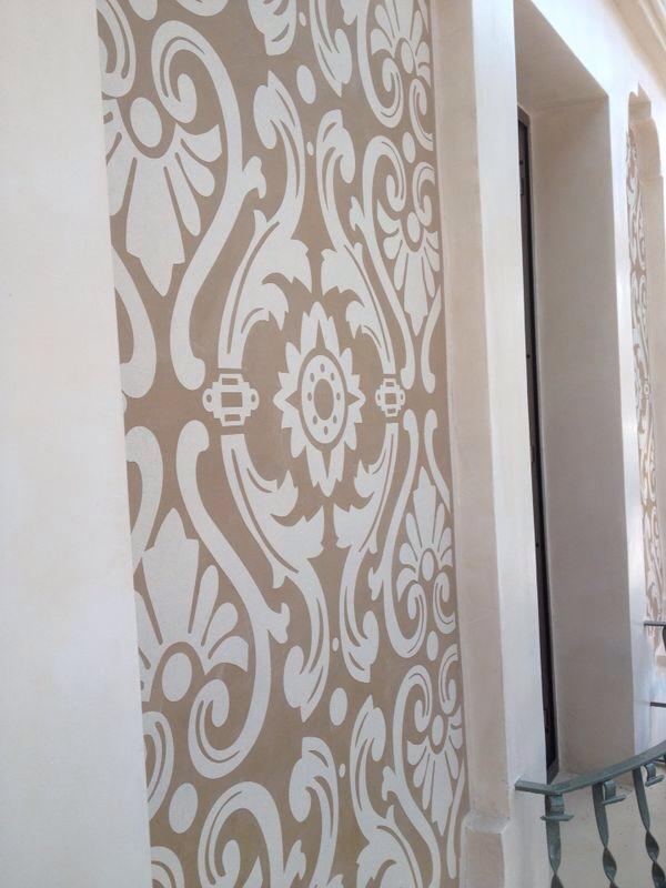 Rehabilitaci n de fachada exterior decorada con - Aplicacion de microcemento ...